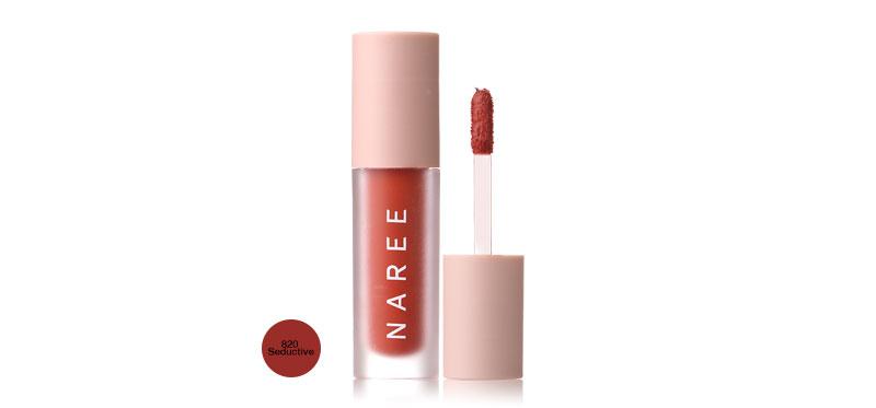 Naree Velvet Matte Creamy Lip Colors 3ml #820 Seductive