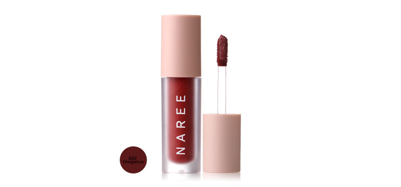 Naree Velvet Matte Creamy Lip Colors 3ml #822 Gorgeous