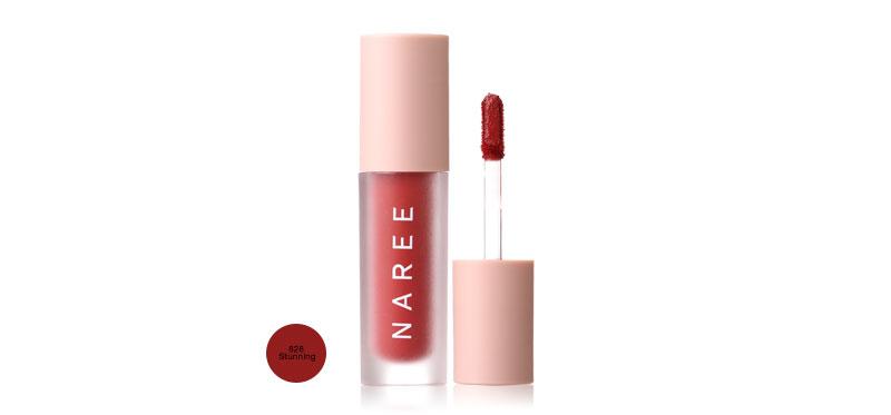 Naree Velvet Matte Creamy Lip Colors 3ml #828 Stunning