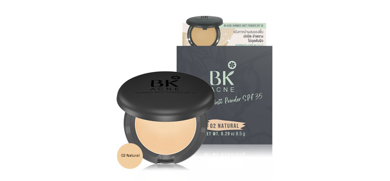 BK Acne Shimmer Matt Powder SPF35 8.5g  #02 Natural