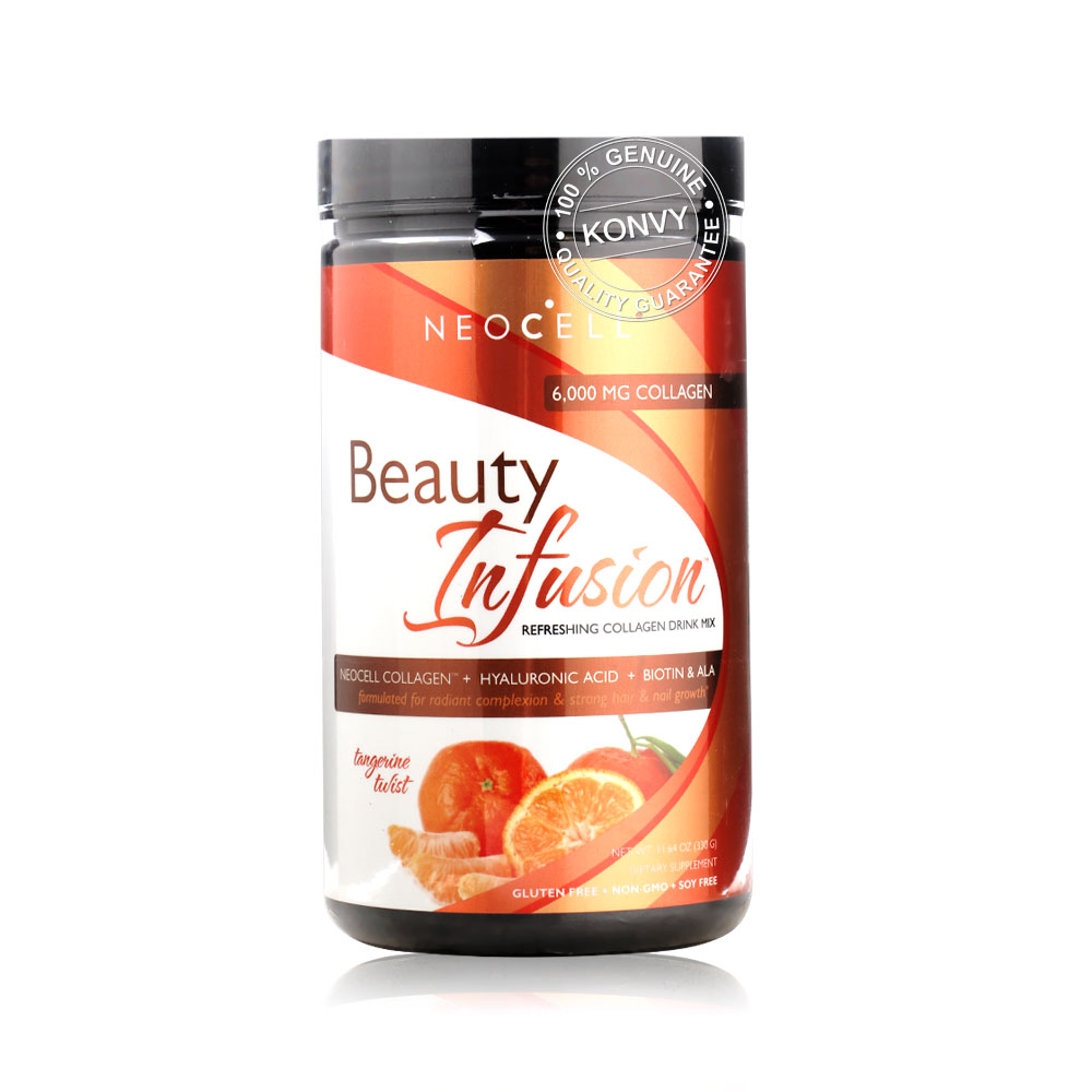 Neocell Beauty Infusion Refreshing Collagen Drink Mix Tangerine Tulist 330g