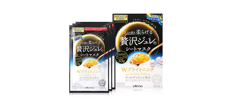 UTENA Premium Puresa Golden Jelly Mask Brightening Type (33g x 3pcs) ( สินค้าหมดอายุ : 2022.02 )