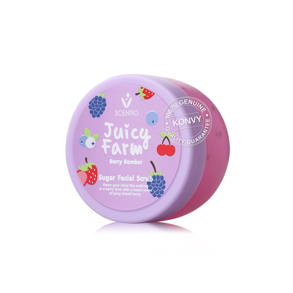 Beauty Buffet Scentio Juicy Farm Berry Bomber Sugar Facial Scrub 100g