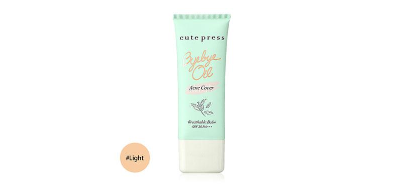 Cute Press Bye Bye Oil Acne Cover Breathable Balm SPF30/PA+++ 30g #Light