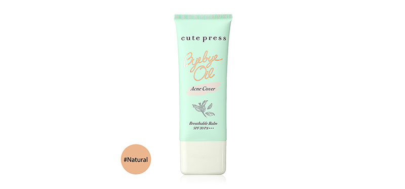 Cute Press Bye Bye Oil Acne Cover Breathable Balm SPF30/PA+++ 30g #Natural