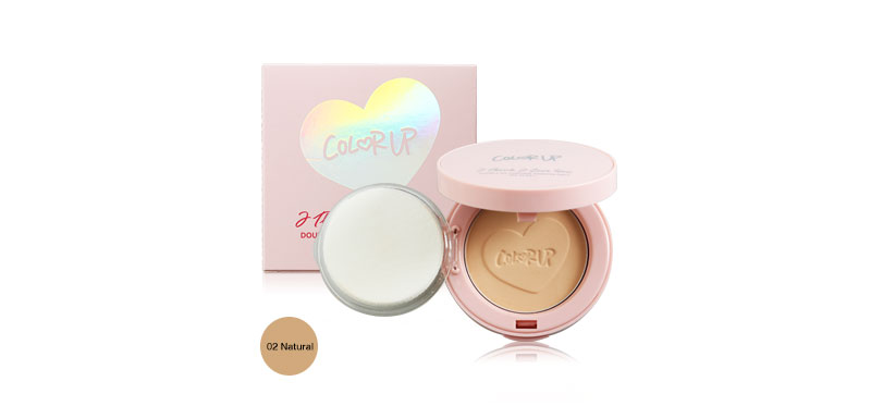 COLOR UP I Think I Love You Double Oil Control Powder Pact SPF30/PA++ 8g #02 Natural