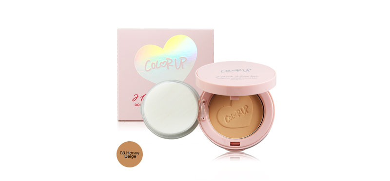 COLOR UP I Think I Love You Double Oil Control Powder Pact SPF30/PA++ 8g #03 Honey Beige