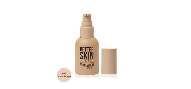 4U2 Better Skin Foundation SPF50/PA+++ 30g #02 Natural Beige