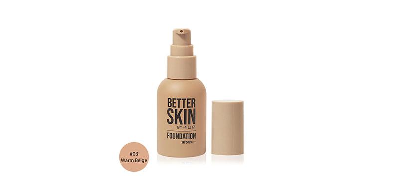4U2 Better Skin Foundation SPF50/PA+++ 30g #03 Warm Beige