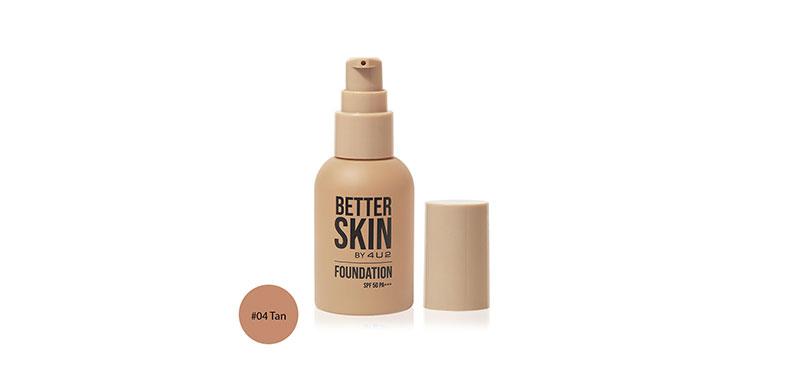 4U2 Better Skin Foundation SPF50/PA+++ 30g #04 Tan