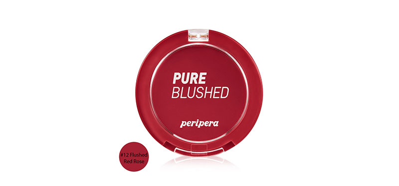 Peripera Pure Blushed Velvet Cheek 4g #12 Flushed Red Rose