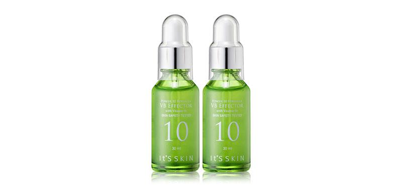 [แพ็คคู่] It's Skin Power 10 Formula VB Effector (30ml x 2pcs) เซรั่มวิตามินบีเข้มข้น ช่วยปรับสมดุลความชุ่มชื่น และการผลิตน้ำมันของผิวอย่างได้ผล เหมาะสำหรับสาวผิวผสมและผิวมัน