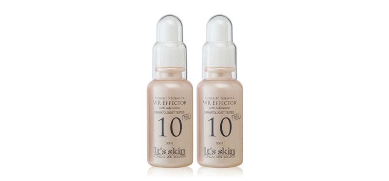 [แพ็คคู่] It's Skin Power 10 Formula WR Effector (30ml x 2pcs) เซรั่มสูตรเข้มข้น คงความอ่อนเยาว์ให้ผิวอย่างมีประสิทธิภาพ ด้วยวิตามินหลากหลายชนิด พร้อมบำรุงผิวอย่างล้ำลึก ปรับผิวให้เรียบเนียนกระชับ ไร้ริ้วรอยตราบนานเท่านาน