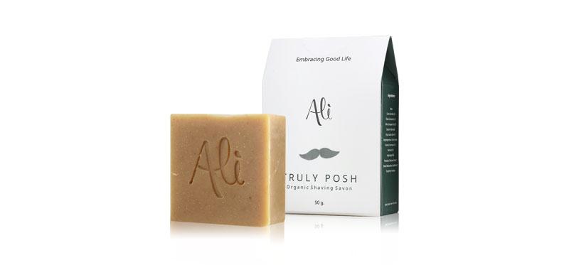 Ali Truly Posh Organic Shaving Savon 50g ( สินค้าหมดอายุ : 2020.07 )