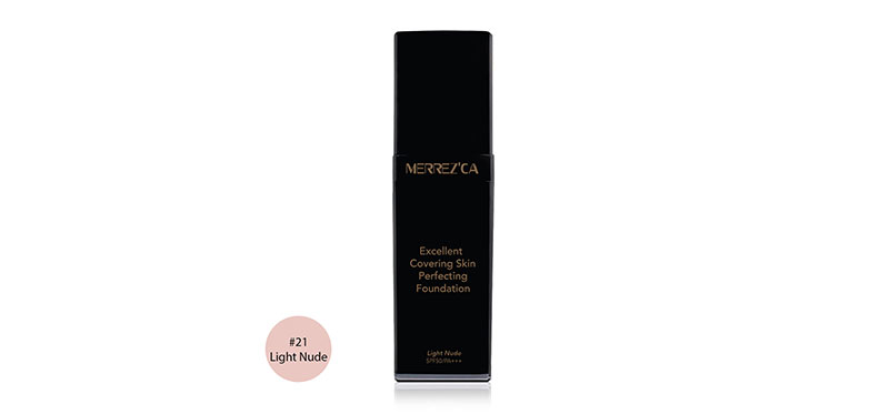 Merrez'ca Excellent Covering Skin Perfecting Foundation SPF50/PA+++ 30ml #21 Light Nude