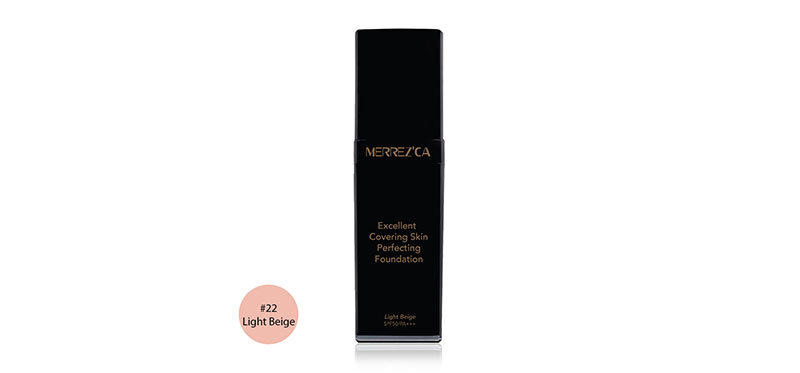 Merrez'ca Excellent Covering Skin Perfecting Foundation SPF50/PA+++ 30ml #22 Light Beige