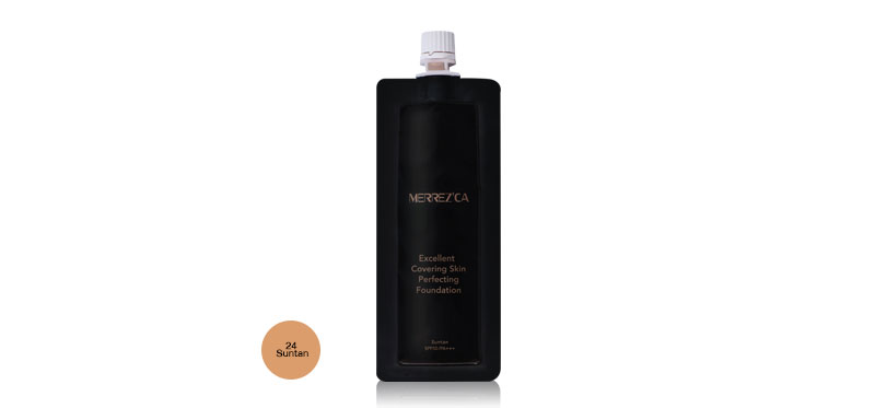 Merrez'ca Excellent Covering Skin Perfecting Foundation 5ml #24 Suntan