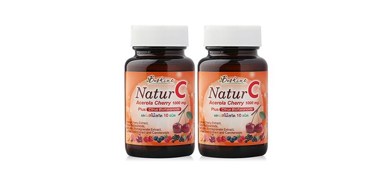 [แพ็คคู่] B.shine Natur C Acerola Cherry (30 Tablets x 2pcs) (Free! 10 Tablets)