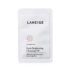 Free! Laneige Fresh Brightening Cleansing Oil 4ml  (1 pc / 1 order)  when shop Laneige at least 1 pc.