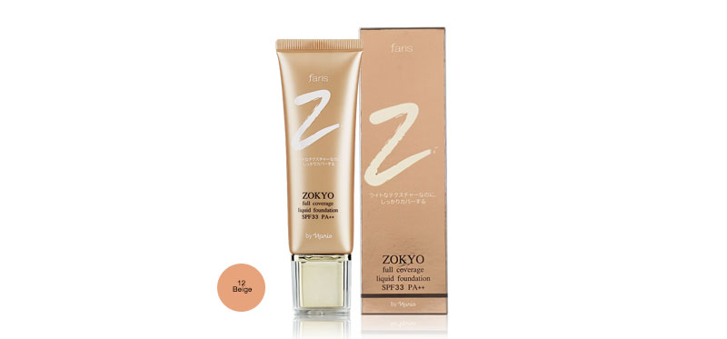Faris by Naris Zokyo Full Coverage Liquid Foundation SPF33/PA++ 30g #12 Beige