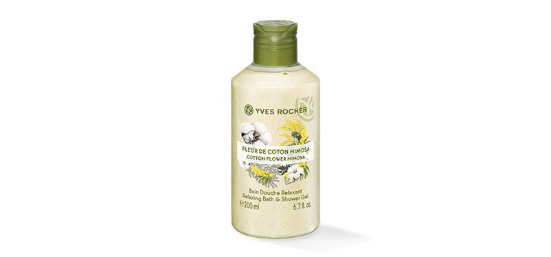 Yves Rocher Relaxing Cotton Flower Mimosa Shower gel 200ml