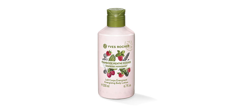 Yves Rocher Energizing Body Lotion Raspberry Pepermint 200ml