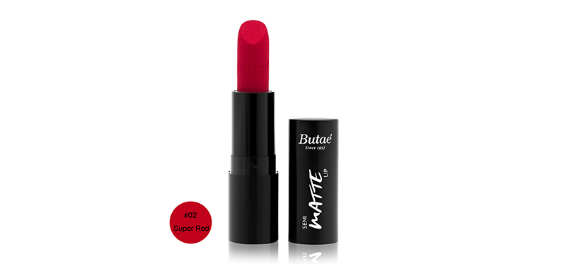 Butae Semi Matte Lip 3.5g #02 Super Red