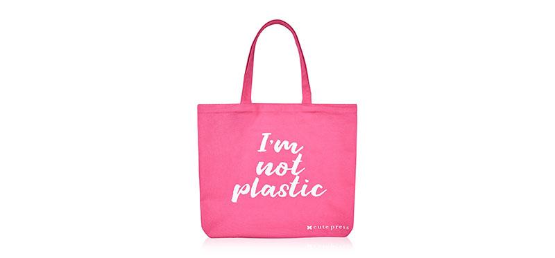 [Free Gift] Cute Press I Am Not Plastic Bag