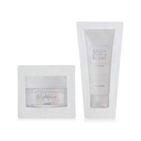 ฟรี! It's Skin Snail Blanc Brightening Cleansing Foam 3ml or Snail Blanc Brightening Cream 1.5ml [Random 1pcs]  (2 ชิ้น / 1 ออเดอร์) เมื่อช้อปสินค้า  Its Skin อย่างน้อย 1 ชิ้น