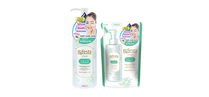 Bifesta Set 2 Items Cleansing Lotion Acne Care 300ml + Refill 270ml