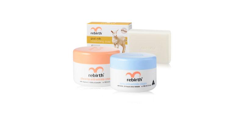 Rebirth Placenta & Emu Anti-Wrinkle Set (100ml × 2pcs) (Free! Goat Milk Soap 100ml)