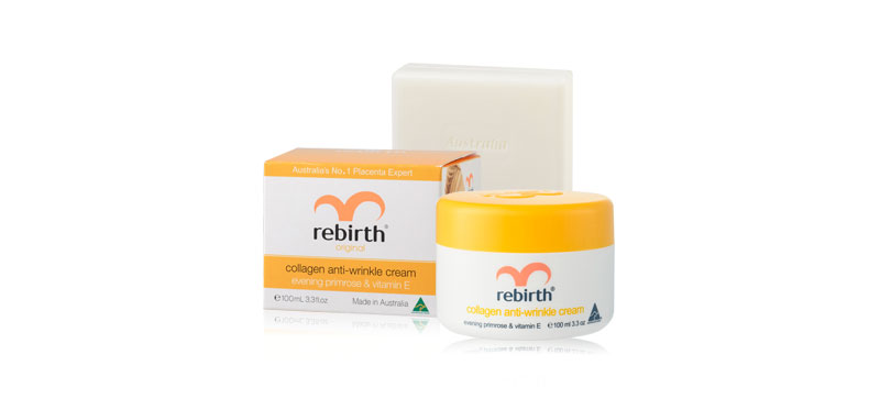 Rebirth Collagen Anti-Wrinkle Cream 100ml (Free! Goat Milk Soap 100ml)