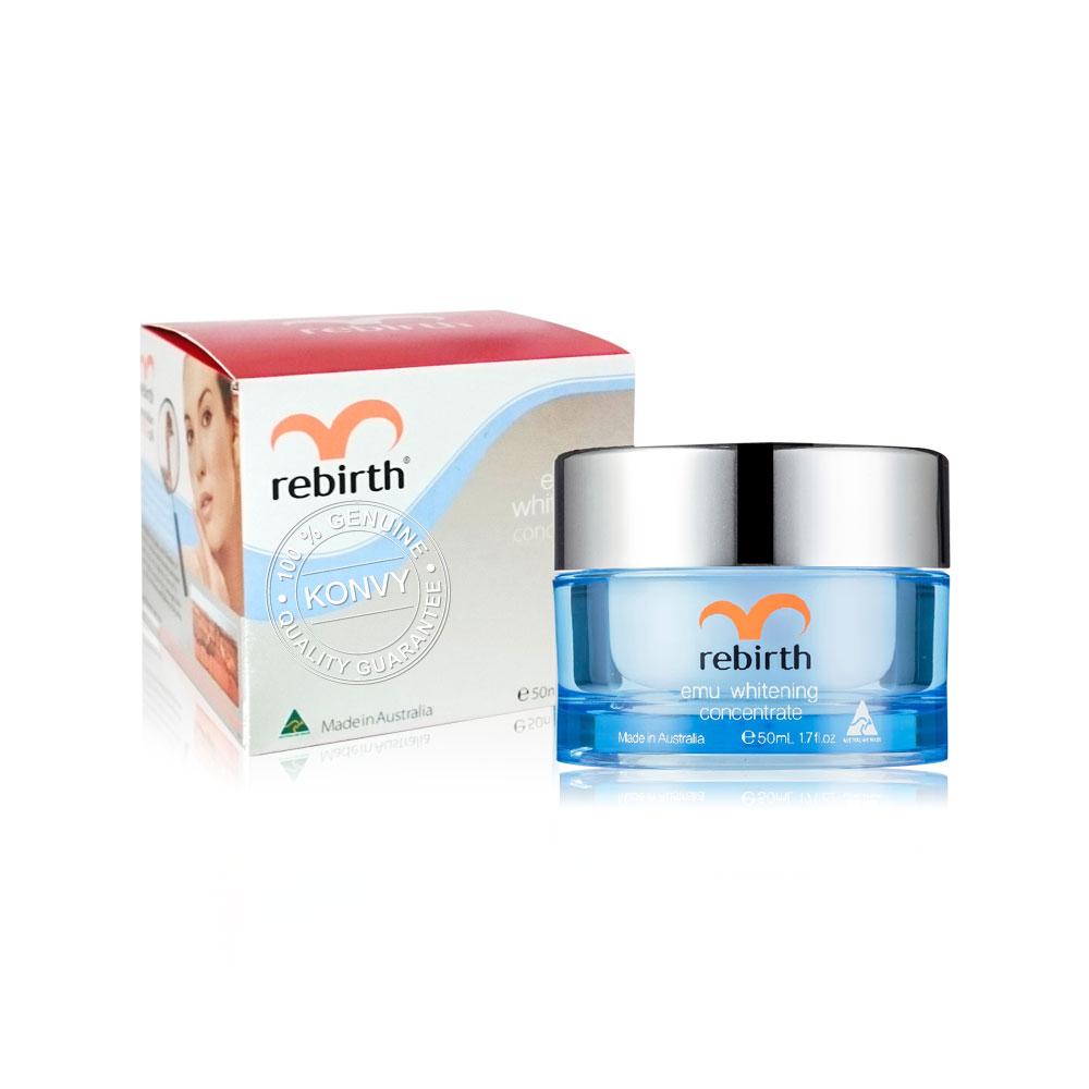 Rebirth Advanced Placenta & Emu Whitening Concentrate Set (50ml × 2pcs) (Free! Bee Venom 30ml)
