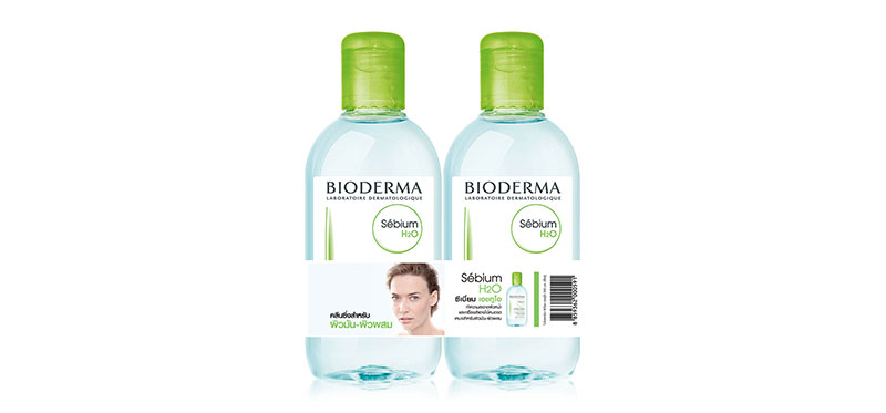 [แพ็คคู่] Bioderma Sebium H2O Purifying Cleansing Micelle Solution [500ml x 2pcs]