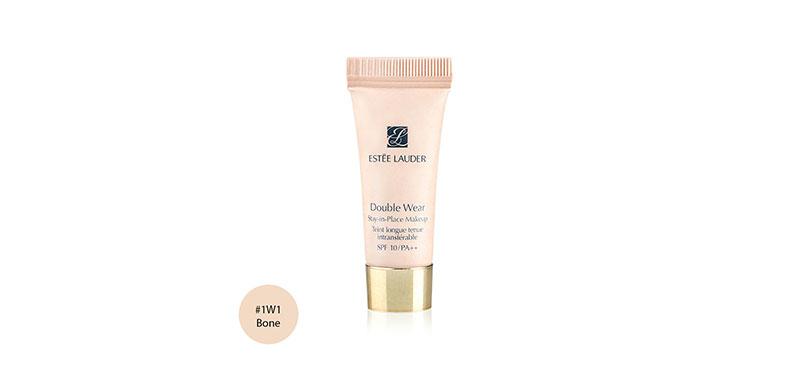 Estee Lauder Double Wear Stay-in-Place Makeup Tein longue tenue intransterable SPF 10/PA +++ #1W1 Bone 5ml