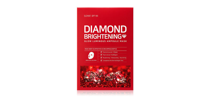 Some By Mi Red Diamond Brightening Glow Luminous Ampoule Mask 25g
