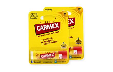 [แพ็คคู่] Carmex Moisturizing Lip Balm SPF15 #Classic (4.25g x 2pcs)