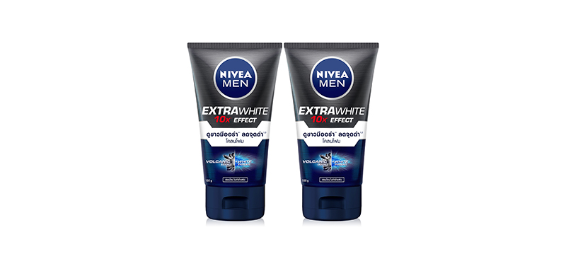 [แพ็คคู่] NIVEA Men Extra White Mud Foam (100g x 2pcs)