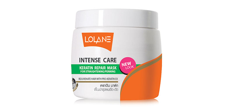 Lolane Intense Care Keratin Repair Mask for Hair Damaged from Straightenning & Perming 200g
