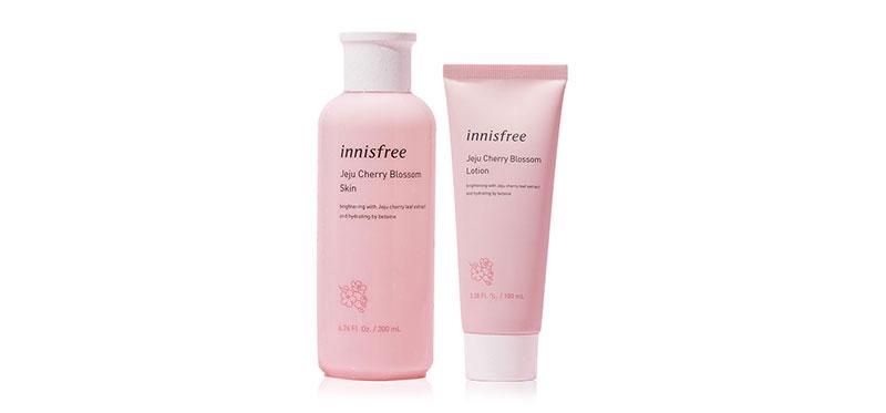 Innisfree Set 2 Items Jeju Cherry Blossom Skin 200ml + Lotion 100ml