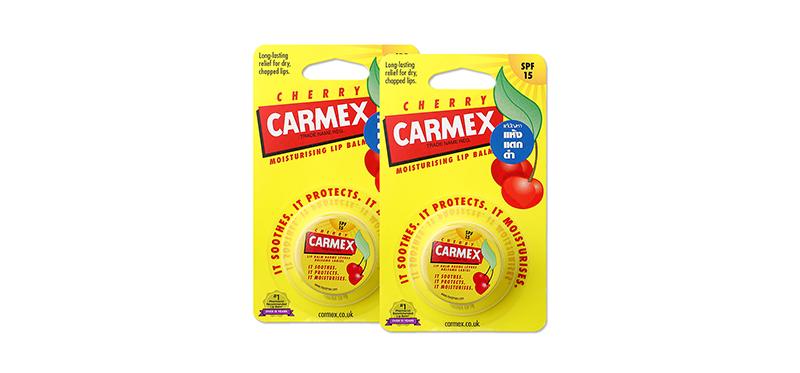 [แพ็คคู่] Carmex Moisturizing Lip Balm SPF15 #Cherry (7.5g × 2pcs)