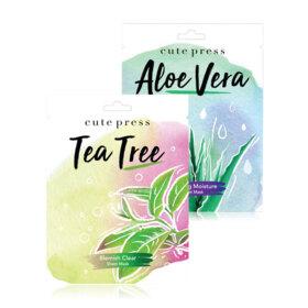 ฟรี! Cute Press Set 2 Items Tea Tree Mask 24g + Aloe Vera Mask 24g (1 ชิ้น / 1 ออเดอร์) เมื่อช้อปสินค้า Cute Press ครบ 199-298.- (จนกว่าของแถมจะหมด)