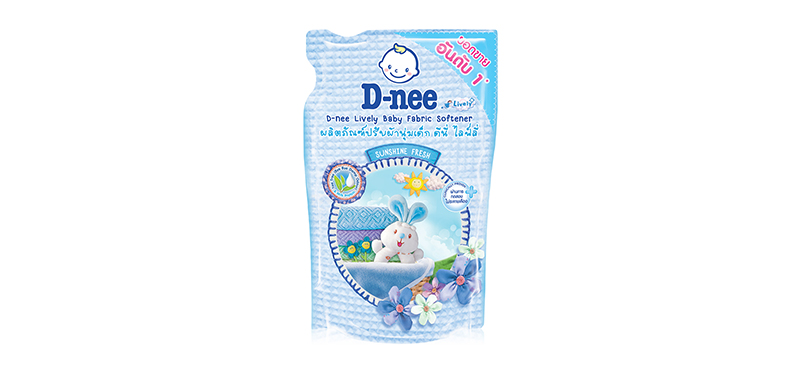 D-nee Baby Fabric Softener 600ml (Pouch) #Blue