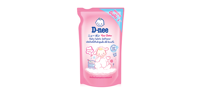 D-nee Baby Fabric Softener 600ml (Pouch) #Pink