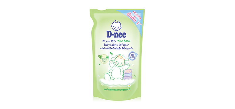 D-nee Baby Fabric Softener Pouch [Green] 600ml