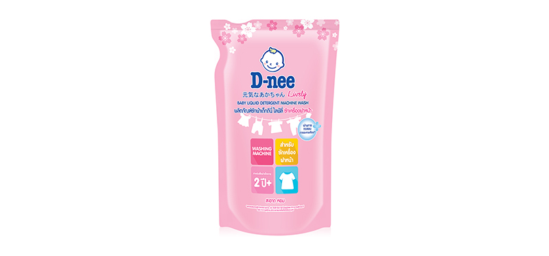 D-nee Lively Baby Liquid Detergent Pouch [Pink] 600ml