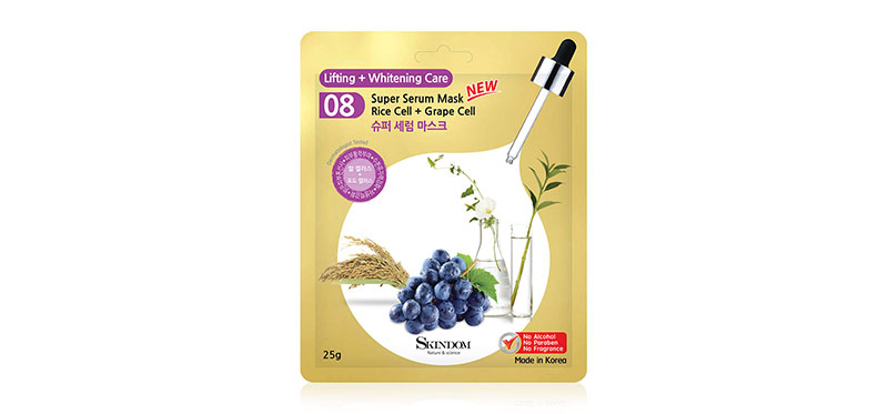 Skindom Super Serum Mask Rice Cell + Grape Cell 25g