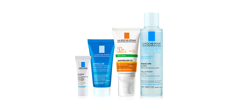 La Roche Posay Exclusive Set [Anthelios XL Drytouch 50ml+Sensitive Skin Micellar 50ml+Effcalar Foaming Gel 15ml+Effcalar Duo+ 3m
