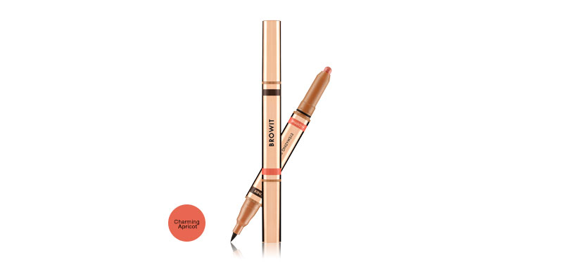 Browit 2 In 1 Eyemazing Shadow and Liner #Charming Apricot