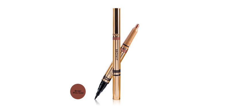 Browit 2 In 1 Eyemazing Shadow and Liner #Bridal Pink Gold